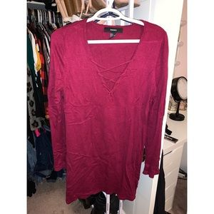 Long Sleeve Maroon Sweater